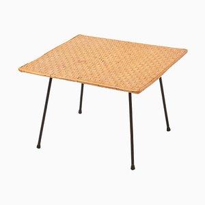 Webbed Side Table mit Eisengestell, 1950er