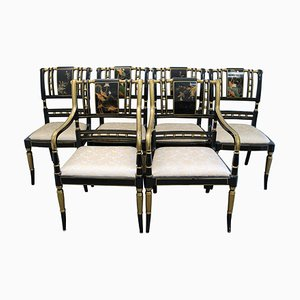 Chinese Hand-Painted Sanding Varnish Chairs, Set of 6