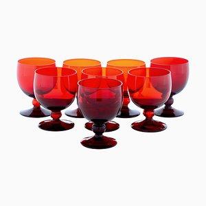 Small Mid 20th Century Wine Glasses by Monica Bratt, Set of 8