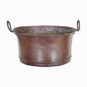 Großes viktorianisches Gefäß aus Kupfer, 19. Jh