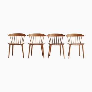 Scandinavian Modern J104 Dining Chairs by Jørgen Bækmark for FDB Furniture, 1970s, Set of 4