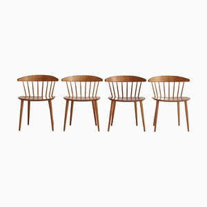 Skandinavische moderne J104 Esszimmerstühle von Jørgen Bækmark für FDB Furniture, 1970er, 4er Set