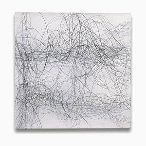 Margaret Neill, Estuaire 1, 2013, Graphite & Acrylique sur Lin