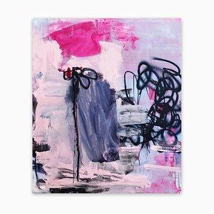 Manuela Karin Knaut, Still Not Really Into Flowers, 2020, acrilico e vernice spray su tela