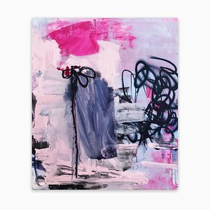 Manuela Karin Knaut, Still Not Really Into Flowers, 2020, Acrylic & Spray Paint on Canvas