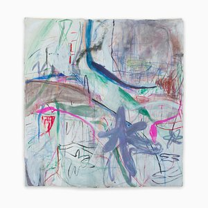 Macha Poynder, Be My Blue Bird, 2020, acrilico, olio e pastello su tela