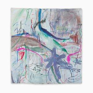 Macha Poynder, Be My Blue Bird, 2020, Acrylic, Oil Stick and Pastel on Canvas
