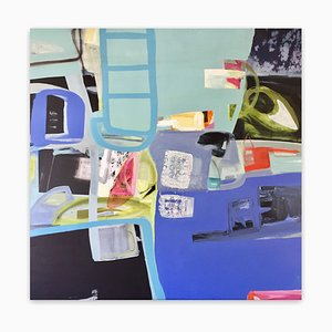 Irene Nelson, Free Play, 2017, Acrylic & Mixed Media on Wood Panel