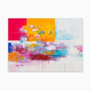 Franko Tencic, The Scope of Pure Vividness 3a, 2020, Acryl, Bleistift, Tusche, Pastell und Aquarell auf Faserplatte, gerahmt