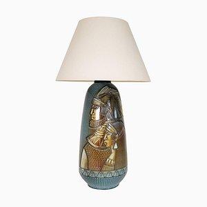 Large Mid-Century Ceramic Table or Floor Lamp, Sweden, 1960s