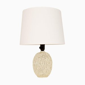 Large Mid-Century Chamotte Table Lamp by Gunnar Nylund for Rörstrand, Sweden