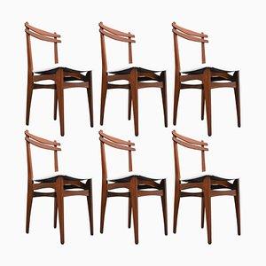Italienische Mid-Century Stühle, 1960er, 6er Set