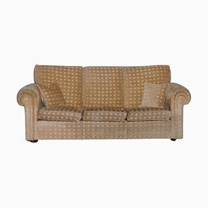 Waldorf 3-Seat Sofa in Gold Checkered Fabric by Duresta