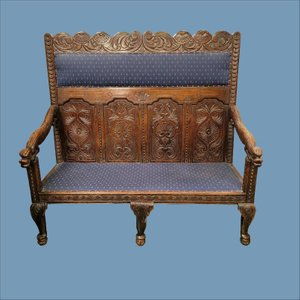 Victorian Carved Oak Settle