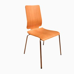 Stacking Chairs in Ash, 1970s, Set of 4