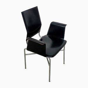 Sedie in pelle di Matteo Grassi, anni '70, set di 6