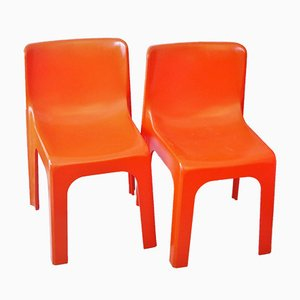 Line France Chairs by Étienne Fermigier, 1972, Set of 2