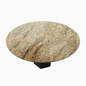 Large Round Dining Table in Granite, 1970s