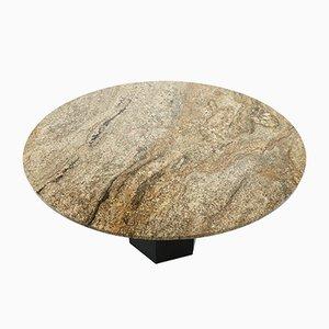 Tavolo da pranzo grande rotondo in granito, anni '70