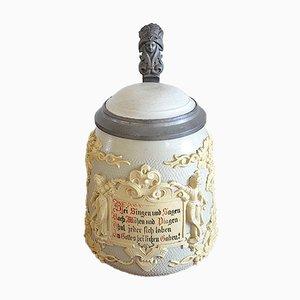 Relief Beer Mug from Villeroy & Boch Mettlach, 1890s