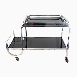 Art Deco Serving Trolley by Jacques Adnet, 1930s