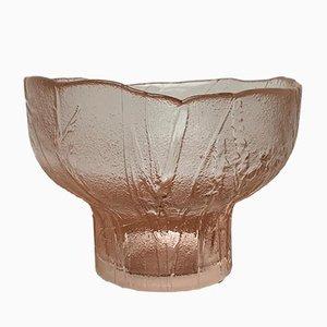 Große finnische Mid-Century Glasschale von Kaija Aarikaikka für Humppila