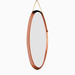 Oval Teak Mirror, 1950s