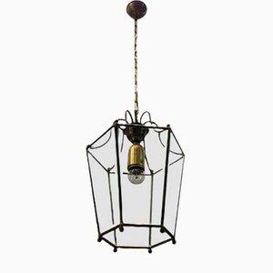 Lanterna in vetro e bronzo, anni '50