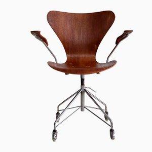 Silla de oficina 3207 de Arne Jacobsen para Fritz Hansen, 1960