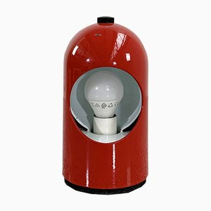 Rote Selene Tischlampe von ABM, 1960er