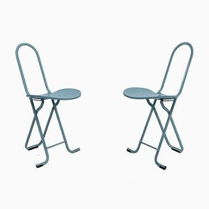 Dafne Folding Chairs by Gastone Rinaldi for Thema, 1970s, Set of 2