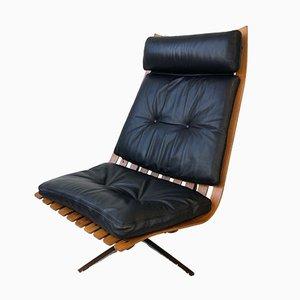 Brazilian Rosewood Swivel Chair by Hans Brattrud, 1960s