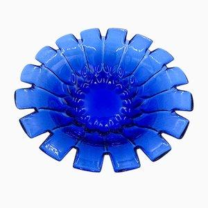 Polish Blue Bowl from Ząbkowice Glassworks, 1960s