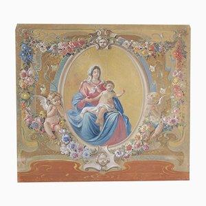 Virgen con el bebé, témpera sobre lienzo, principios de 1900