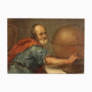 Portrait von Demokrit, 18. Jahrhundert, Gemälde