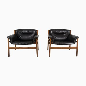 Armchairs in the Style of Tito Agnoli, 1960s, Set of 2