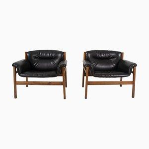 Armlehnstühle im Stil von Tito Agnoli, 1960er, 2er Set