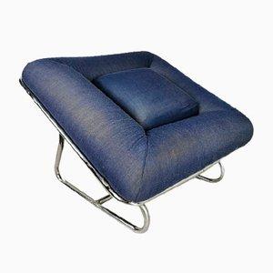 Vintage Blue Lounge Chair, 1960s