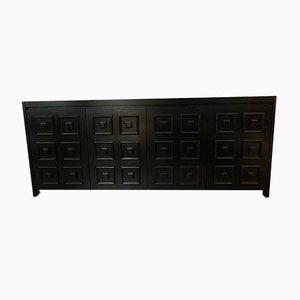 Schwarzes Eichenholz Sideboard De Coene zugeschrieben