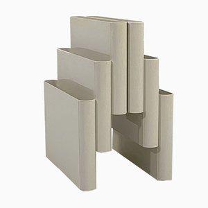 Porte-Revues Blanc par Giotto Stoppino pour Kartell, 1970s