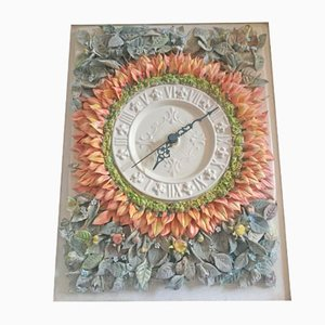 Horloge Murale en Porcelaine par Giulio Tucci