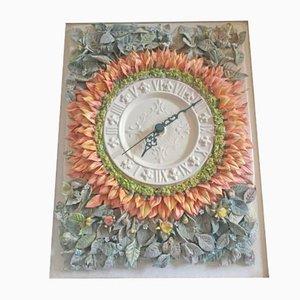 Orologio da parete in porcellana di Giulio Tucci