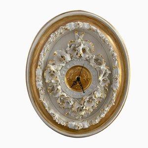 Porzellan Wanduhr von Giulio Tucci