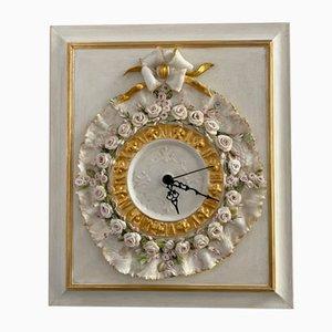 Reloj de pared de porcelana de Giulio Tucci