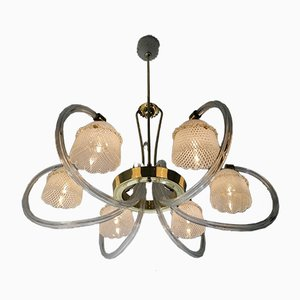 6-Arm Ceiling Lamp by Ercole Barovier, 1930s