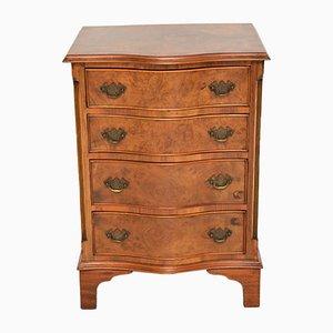 Antique Burr Walnut Serpentine Chest of Drawers