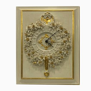 Porcelain Wall Clock by Giulio Tucci