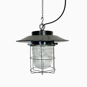 Industrial Cage Pendant Lamp, 1960s