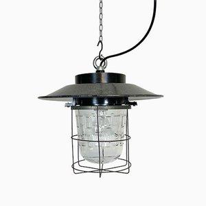 Lampe à Suspension Cage Industrielle, 1960s