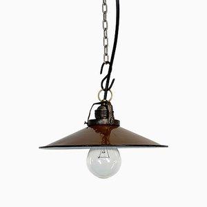 Industrial Brown Enamel Light, 1930s